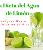 La dieta del agua de limón es un claro ejemplo de dieta absurda: beber agua con limón no va a hacer que adelgaces.